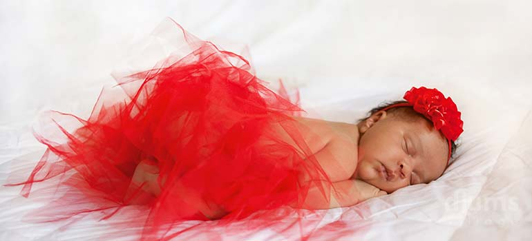 beautiful 8 week baby girl sleeping trying for a baby