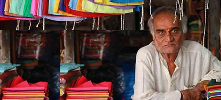 Indian man in his shop Dip Tea India