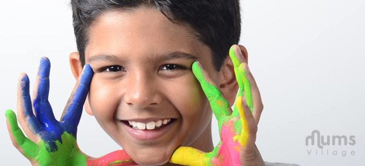 Indian-boy-with-painted-hands