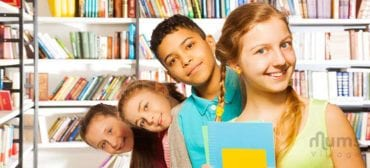 small-group-of-children-in-library