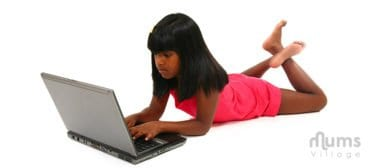 7-year-old-black-girl-on-laptop