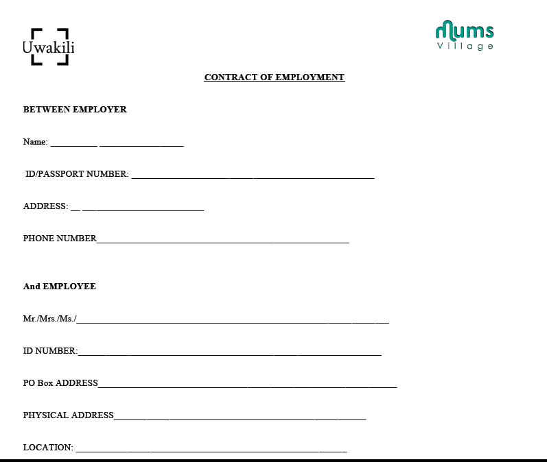 basic contract of employment template - sample nanny employment contract mumsvillage mumsvillage