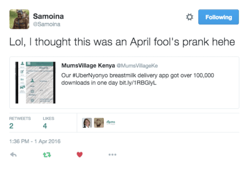 April Fool's UberNyonyo