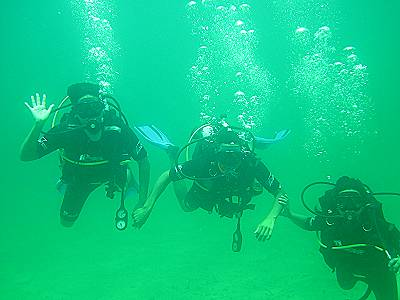 scuba diving in marine park