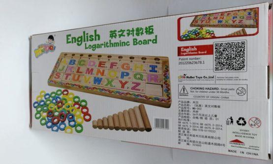 English Logarithmic Wooden Board