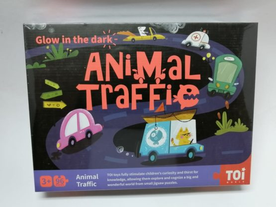 Glow in the Dark Animal Traffic 96 Piece Puzzle