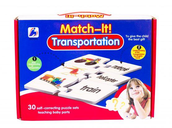Match It Transportation Puzzle Set